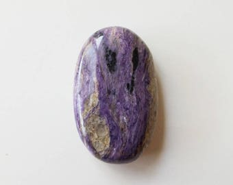 Charoite Palm Stone - Stone of Transformation, polished gemstone, worry stone, crystal healing