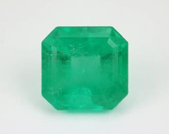 3.01cts Loose Colombian Emerald, Loose Columbian Emerald, Natural Emerald, Green Emerald, Green Beryl, Loose Beryl, Genuine Emerald
