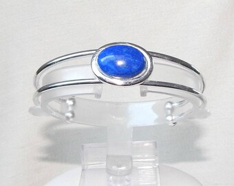 Lapis bracelet,Lapis and silver bracelet,lapis and silver cuff bracelet,lapis lazuli cuff bracelet,blue cuff bracelet,designer bracelet