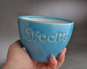Groom Ice Cream Cup Ready To Ship Groom Ice Cream Cup Bowl by Symmetrical Pottery