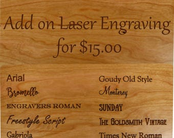 PERSONALIZE IT - Custom Laser Engraving 15 dollars - Words, engraved on Masterpiece product only, Paul Szewc