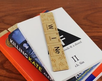 """Periodic Table of Elements, """"WINe"""", Wooden Bookmark,  Russian Birch, Laser engraved, Paul Szewc"""
