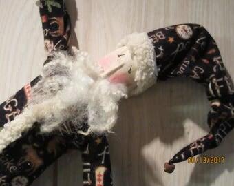 Primitive Christmas Skinny Santa Rag Doll Style St Nick Adirondack Santa Clause from Darlas Closet