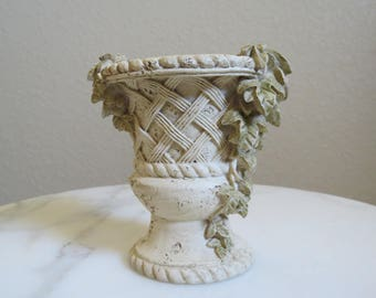 Small Decorative Urn with Ivy