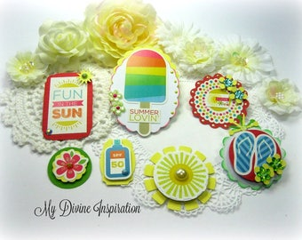 Summer / Beach / Vacation / Fishing Paper Embellishments / Planner Accessories / Scrapbooking Layouts /Cards /Mini Albums /Paper crafts