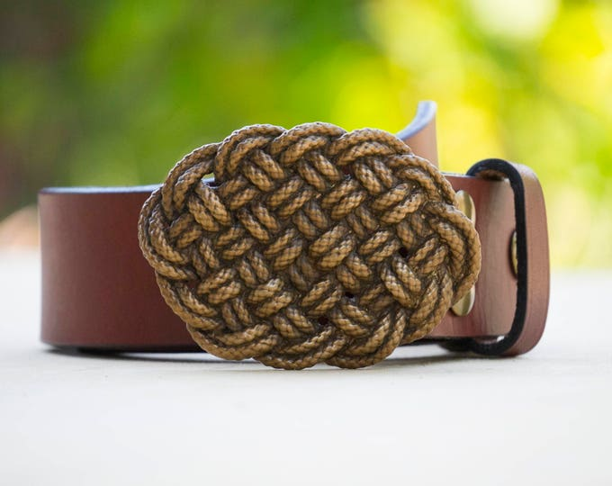 Knot-ical Bronze Belt Buckle