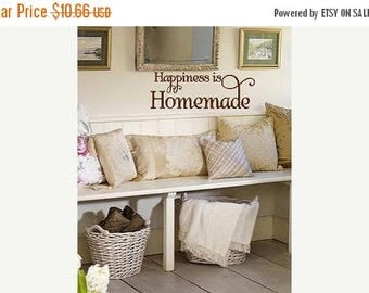 20% OFF Happiness is Homemade- Vinyl decal-Vinyl Lettering wall words graphics Home decor itswritteninvinyl