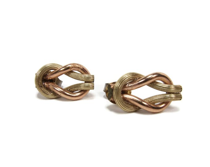 Vintage AWC Co. 12K Rose Gold Filled Post Earrings