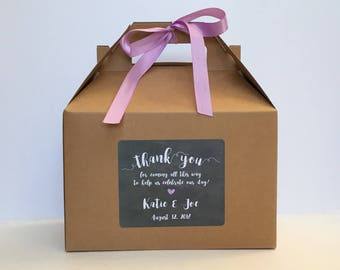 Out of Town welcome Box / Wedding guest box / Wedding rehearsal favor Box / Thank you Out of town guest box - Set of 6
