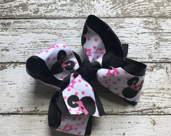 NEW ITEM Boutique Girls Layered Minnie and Mickey Hair Bow Clip..Minnie Mouse Hair Bow Perfect for Disney Photo Props Birthday St