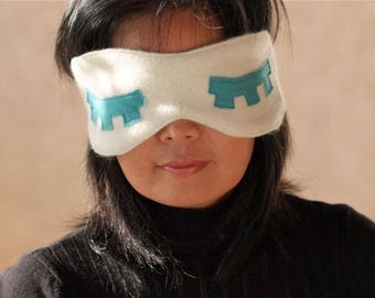 Sweet home relaxing mask / wellness glasses in fine wool