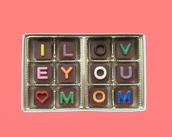 ship AFTER 8/7 Funny Mothers Day Gift Mom Mothers Gifts Box Chocolate Message A Surprise from Daughter and Son I Love You Mom Jelly Bean Cho