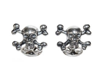 Vintage Skull Cufflinks, Sterling Silver, Richard James Savile Row, Luxurious, Rockstar