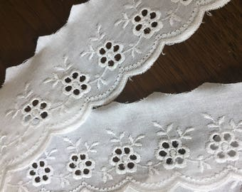 Broderie Anglais Trim, Sold by the Yard