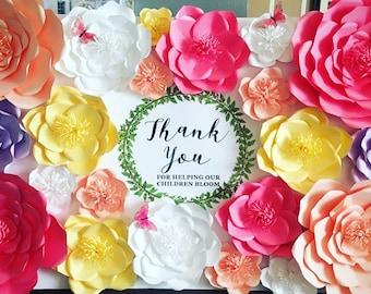 SALE Set of 4 Handmade Paper Flowers Paper Flowers