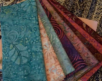 Indonesian batik-Garden Party 1/2 yard cuts