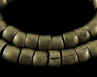 Ethiopian Trade Beads Bicone Silver Old Africa Loose 109335