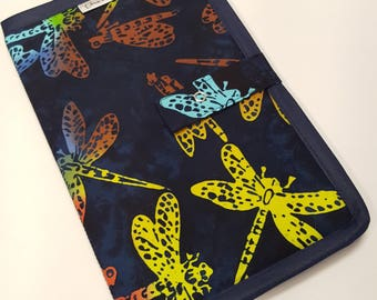 Bi-fold 1/2 Page Pattern Holder in Indigo Dragonfly