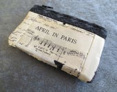 Wallet Coin Purse Card Carrier Paris Black and White