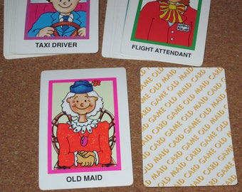Vintage OLD MAID Card Deck Playing Cards Game Made in China