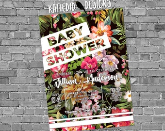 Sporty Chic Invitation Baby shower floral tropical sprinkle gender reveal neutral birthday bridal retirement bachelorette wedding 1483