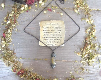 Elemental Amulet - AIR - witchcraft jewelry, wiccan elements wicca pagan occult magick witchy gothic spells magickgift