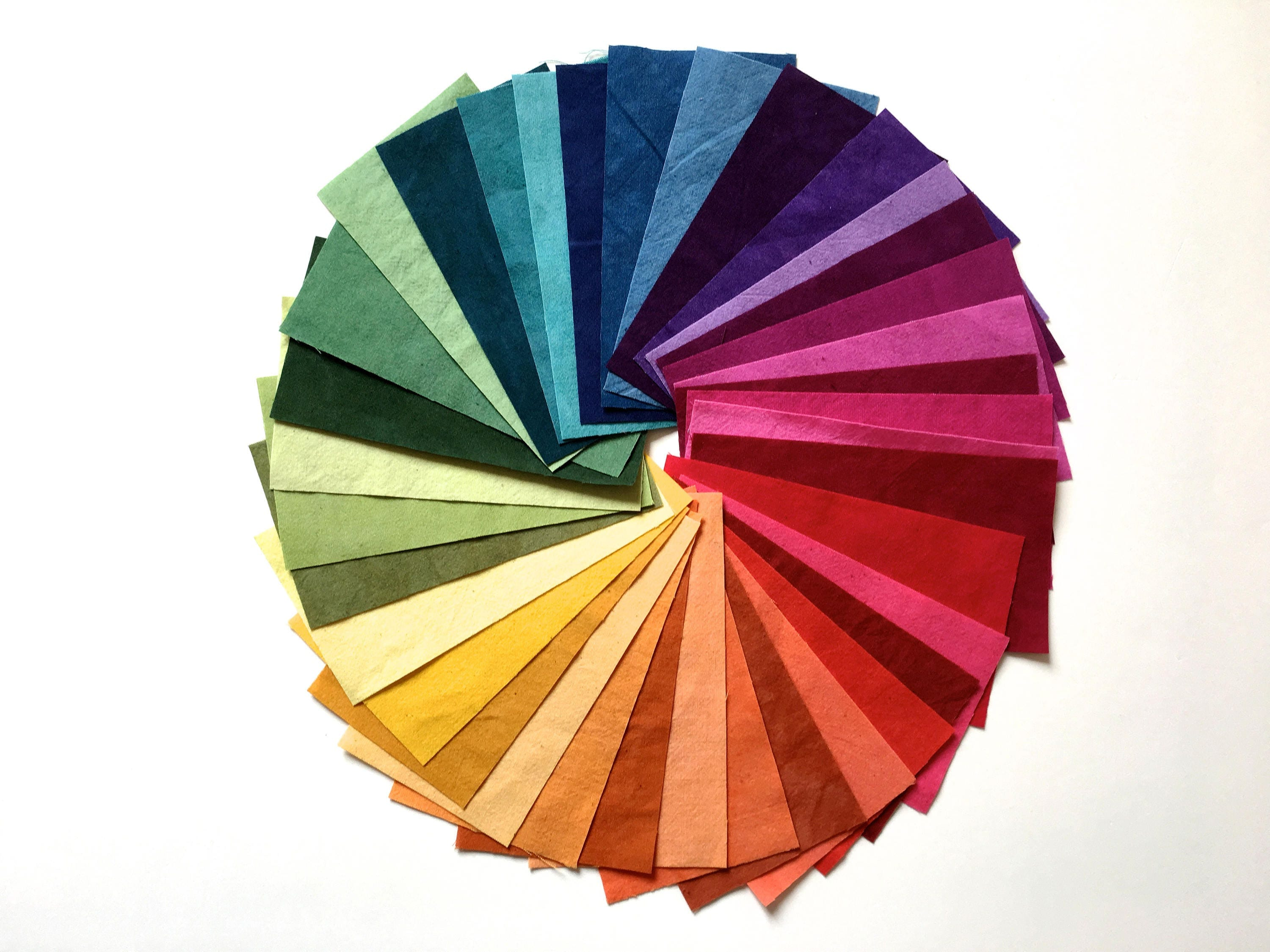 Cherrywood Hand Dyed Fabric Kit Color Wheel Fabric Bundle