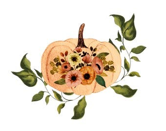 Fall clipart,thanksgiving clipart,fall watercolor clipart,fall planner clipart,pumpkin clipart,fall florals,fall wreath clipart