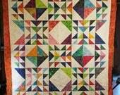 Handmade Bright Batik Quilt
