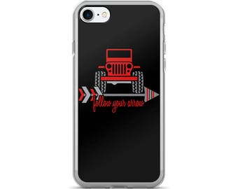"4x4 ""Follow Your Arrow"" iPhone Case •  Red / Black • You Can Request Custom Colors"