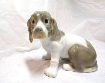 Vintage Porcelain SIMSON Puppy Dog Pastel Painted Sweet face Collectible Dog Lover
