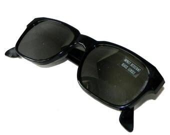 Vintage 1980s Mirrored Black Sunglasses