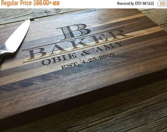 ON SALE Personalized Chopping Block, Edge Grain 12x15 - Personalized Wedding Gift, Housewarming Gift, Anniversary Gift