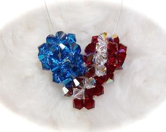3-D Patriotic Crystal Heart Tutorial