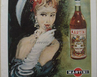 Original French Vintage Ad 1949 Martini & Rossi Vermouth