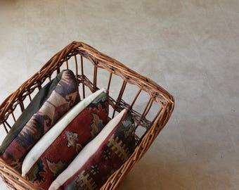 Antique Large Woven Baguette Basket