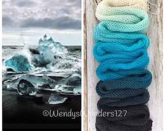 Gradient Yarn, Hand Dyed Yarn, Yarn, Fingering Weight Yarn, Cold as Ice