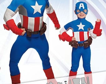 NEW Captain America Costume Pattern Size 3-8