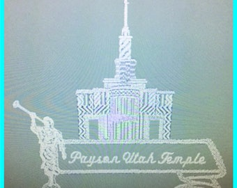 Payson Utah Temple Envelope - Plain Edge