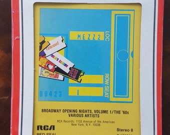 Broadway Opening Nights, Volume 1/The '60s Various Artists New Sealed Vintage 8-Track Tape