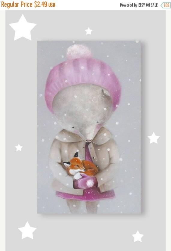 On Sale Woodland Animal  card, Teddy bear Animals  card, Cute  card, Animal illustration, Bear gift, love, friendship card, postcard