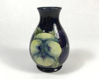 Signed Moorcroft Pansy Vase