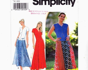 Simplicity 7593 Szs 18-20-22 Misses Dress Petite Too UNCUT