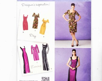 Simplicity 1778 Szs 6-14 Misses Dresses In Two Lengths With Bodice and Sleeve Variations