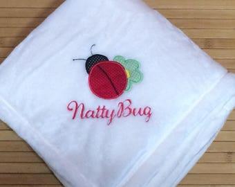 Personalized Ladybug Baby Girl Blanket