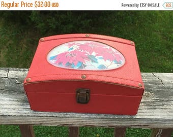 ON SALE Box Christmas Box Red Box Jewelry Box