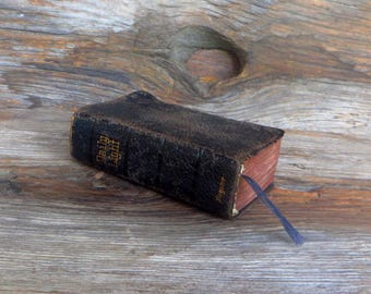 Antique Daily Light On The Daily Path Miniature Book Samuel Bagster Devotional Text Book Early 1900s