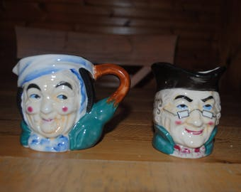 Vintage GEORGE & MARTHA Washington Toby MUGS Made In Japan