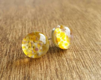 Glass Starburst Post Earrings