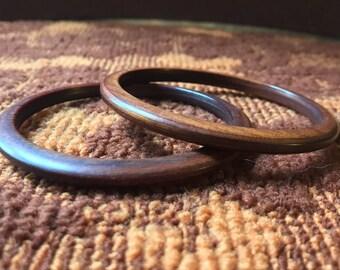 Set of 2 Wooden Bangles